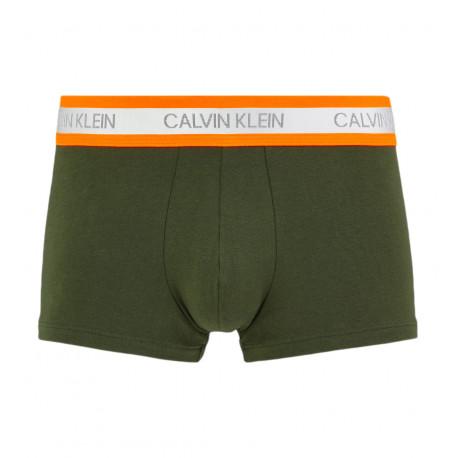 Boxer coton Calvin Klein kaki ceinture orange