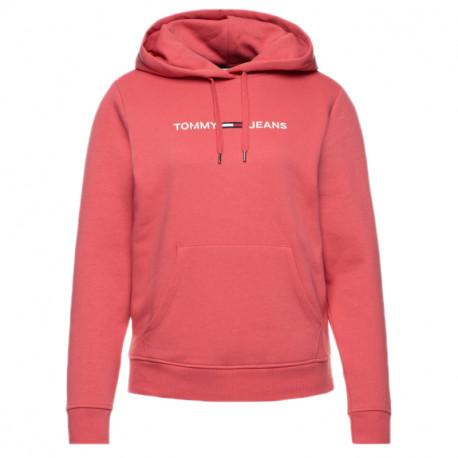 Sweat à capuche Tommy Jeans rose pour femme