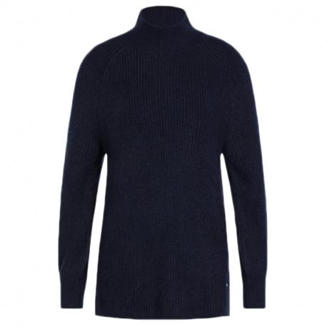 Pull col montant Tommy Jeans bleu marine décontracté pour femme