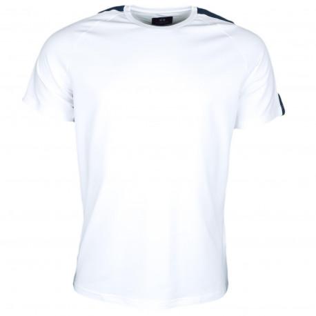 T-shirt La Martina Maserati blanc et bleu marine pour homme
