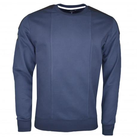 Sweat La Martina Maserati bleu marine pour homme