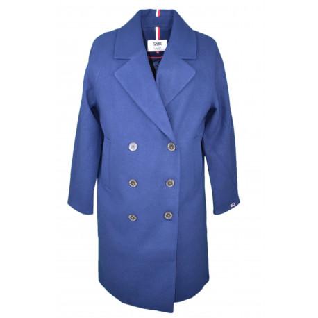 Veste à boutons Tommy Jeans bleu marine pour femme