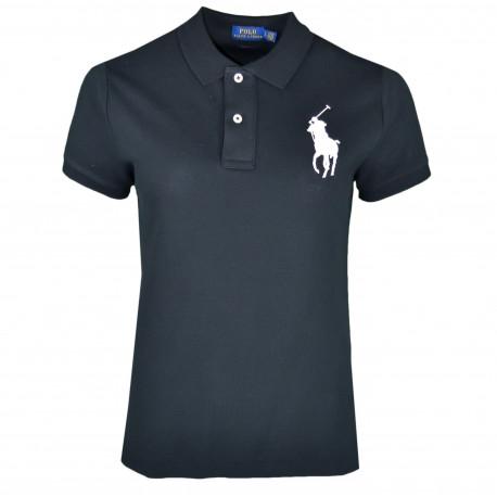 Polo Ralph Lauren noir big pony blanc pour femme
