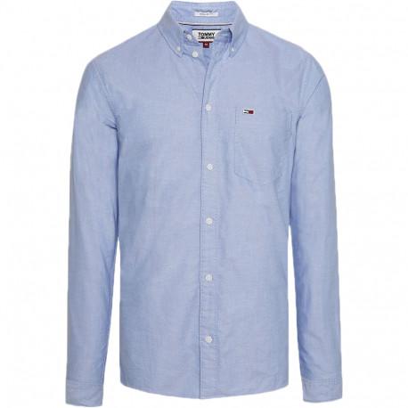 Chemise oxford Tommy Jeans bleu ciel régular pour homme