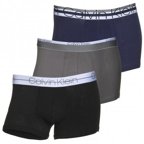 Pack de 3 boxers Calvin Klein bleu et gris pour homme
