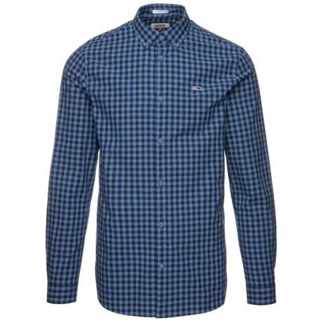 Chemise à carreaux Tommy Jeans bleu pour homme