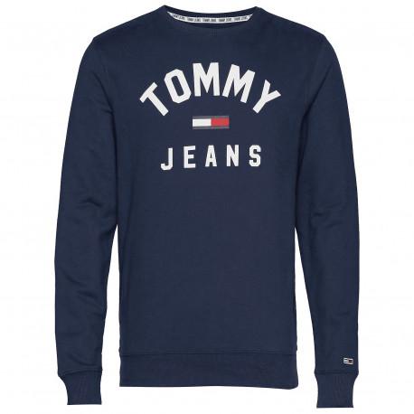 Sweat Tommy Jeans bleu marine pour homme