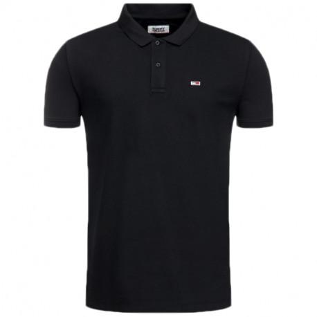 Polo Tommy Jeans noir pour homme