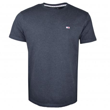 T-shirt col rond Tommy Jeans noir basique pour homme