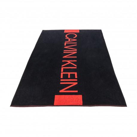 Serviette de plage Calvin Klein noire et rouge