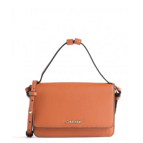 Mini sac portefeuille marron cognac pour femme