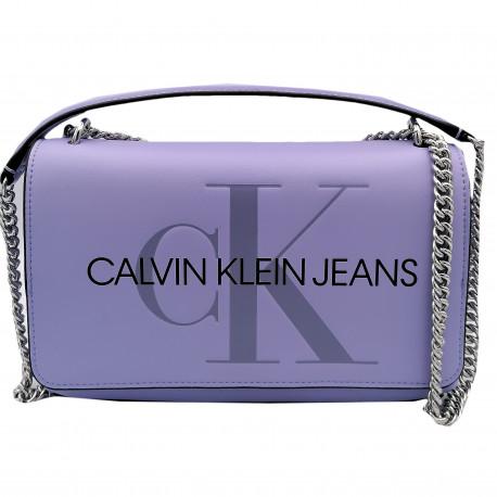 Sac bandoulière Calvin Klein violet lila pour femme