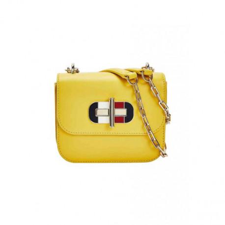 Petit sac bandoulière Tommy Hilfiger jaune pour femme