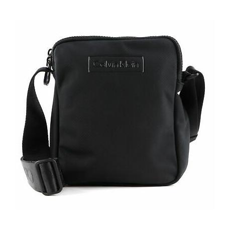 Sacoche bandoulière Calvin Klein plate noire pour homme