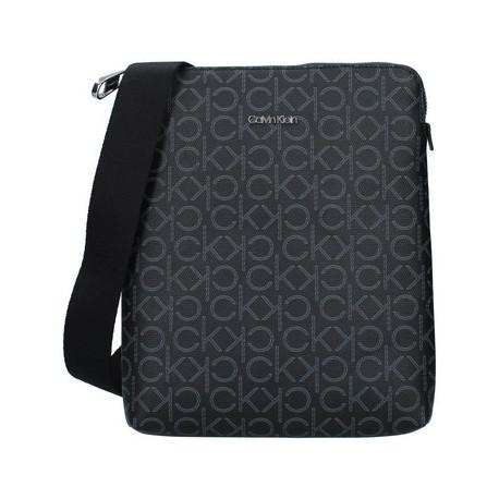 Sac bandoulière plat Calvin Klein noir avec logo pour homme