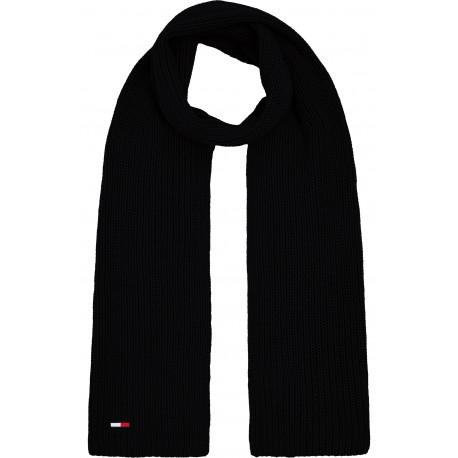 Écharpe côtelé Tommy Jeans noire pour homme