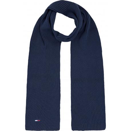 Écharpe côtelé Tommy Jeans bleu marine pour homme