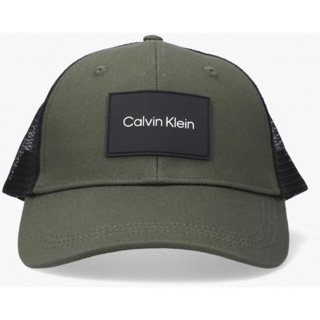 Casquette trucker Calvin Klein vert kaki et noir pour homme