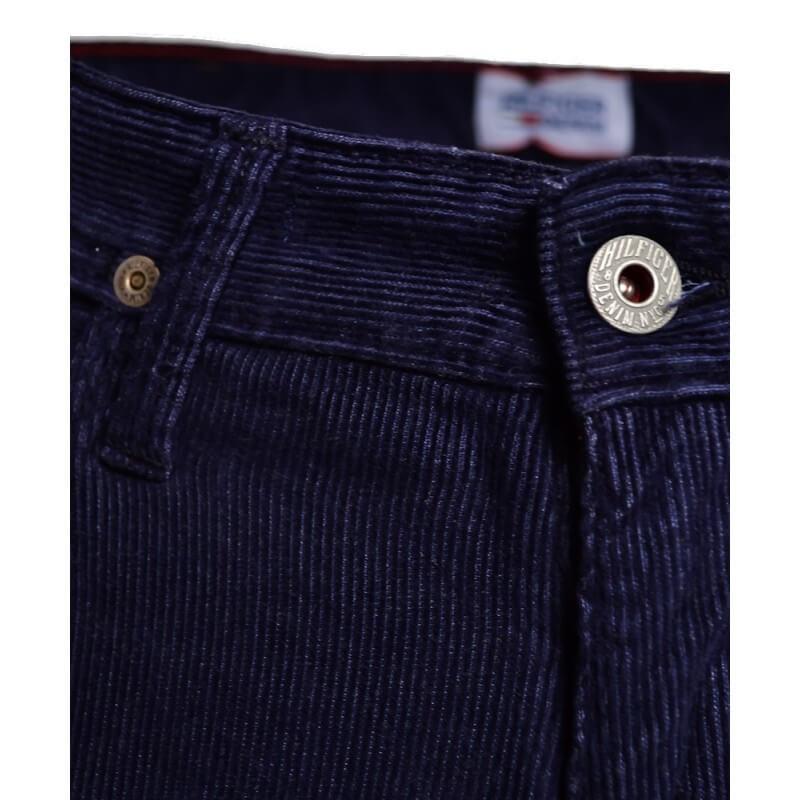 pantalon tommy hilfiger bleu marine en velour ryan pour. Black Bedroom Furniture Sets. Home Design Ideas