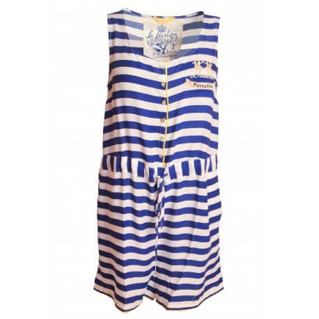 Combinaison short La Martina bleu Portofino pour femme