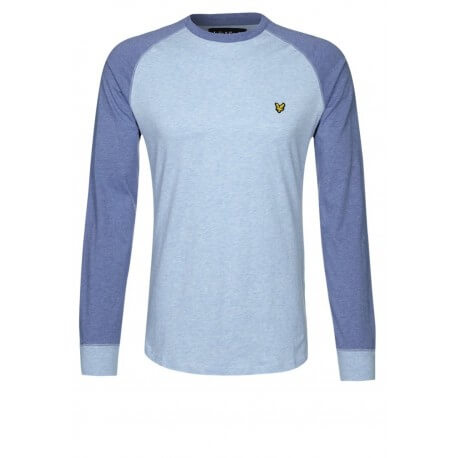 T-Shirt à manches longues bleu