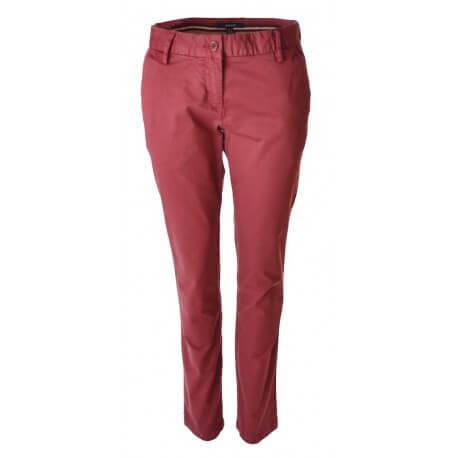 Pantalon Chino Gant Rouge Bordeaux pour femme