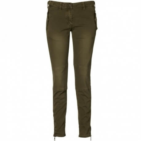 Pantalon carotte kaki