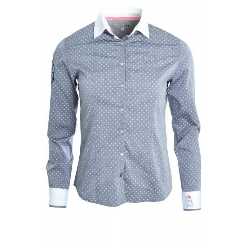 chemise a pois pour femme chemise a pois pour homme 100 coton avec motif vintage chemise a pois pour. Black Bedroom Furniture Sets. Home Design Ideas