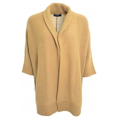 Gilet chauve-souris Ralph Lauren marron beige Chiara pour femme