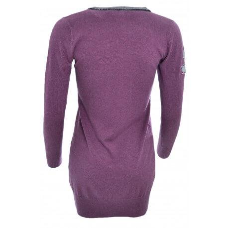 Pull long La Martina violet pour femme