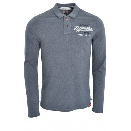 Polo rugby Gaastra gris Log pour homme