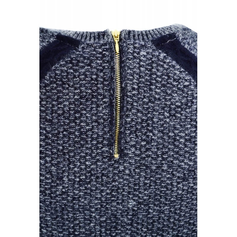 pull tommy hilfiger bleu marine et gris finch pour femme toujours. Black Bedroom Furniture Sets. Home Design Ideas
