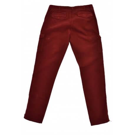 Pantalon cargo velour Gant rouge bordeaux pour femme