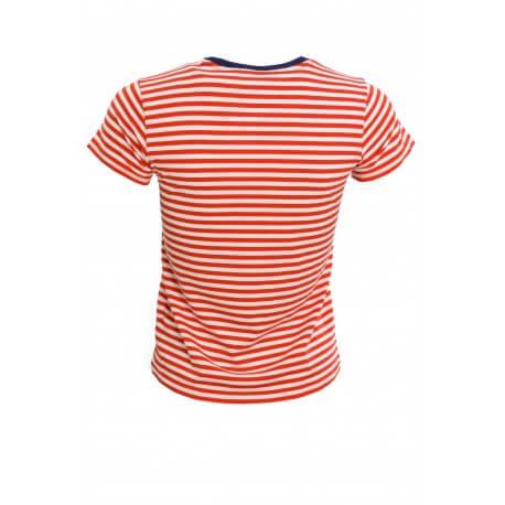 T-shirt Ralph Lauren rayé rouge et blanc Holly pour femme