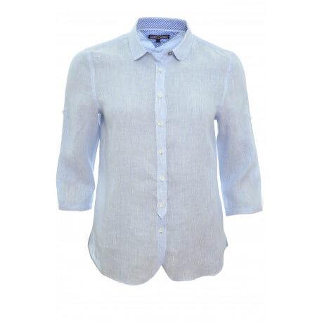 chemise tommy hilfiger salia bleu pour femme toujours au meilleur. Black Bedroom Furniture Sets. Home Design Ideas