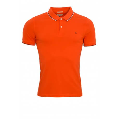 Polo Tommy Hilfiger Dénim Paddy rouge pour homme