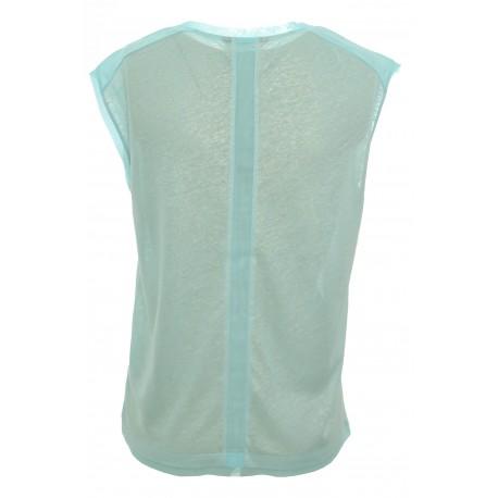 Top Tommy Hilfiger Badria bleu turquoise pour femme