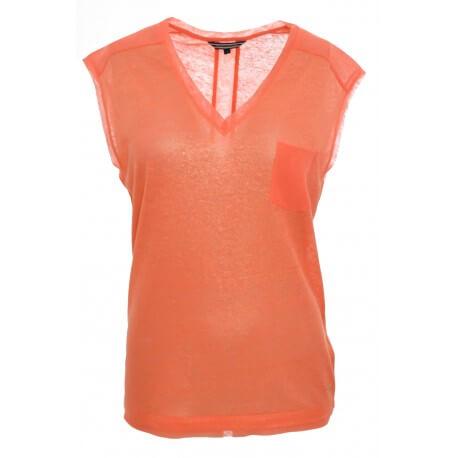 Top Tommy Hilfiger Badria rose corail pour femme