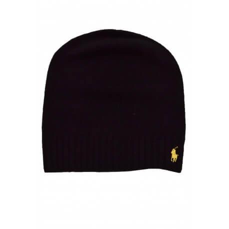 Coffret écharpe/bonnet Ralph Lauren noir pour femme