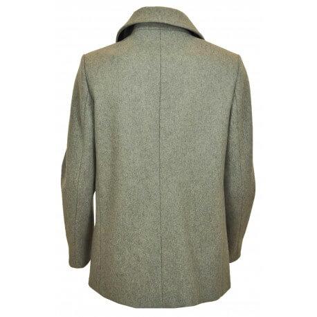 Manteau caban court en laine Tommy Hilfiger Tate gris pour femme