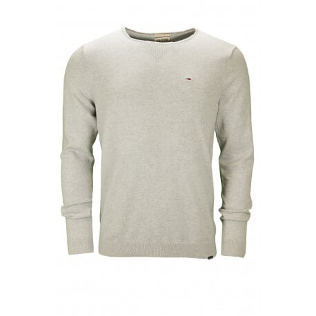 Pull col rond Tommy Hilfiger Dénim Tamber gris pour homme