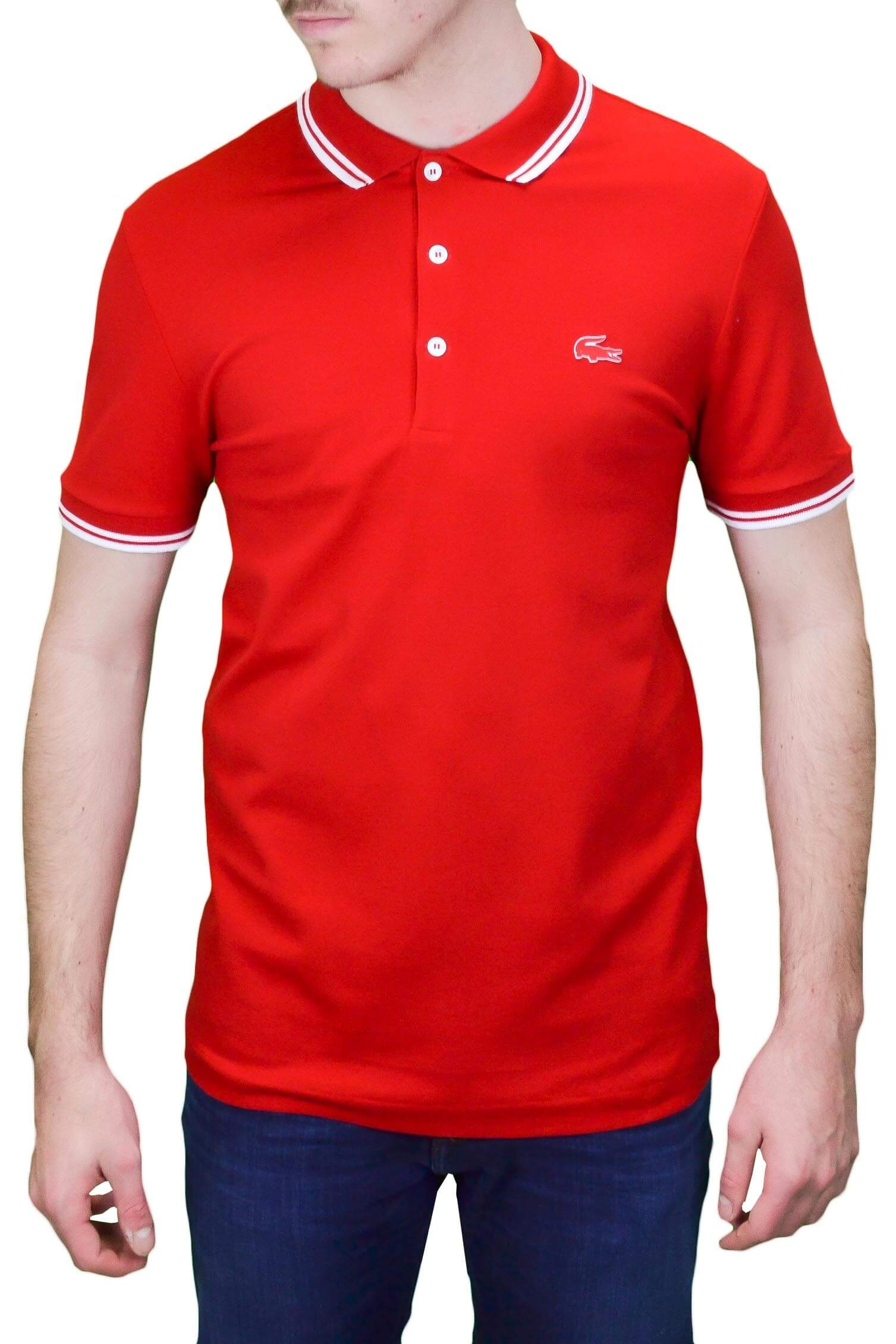 3 Prix Pour Boutons Polo Au Meilleur Lacoste Rouge Toujours Homme IYDeH9WE2