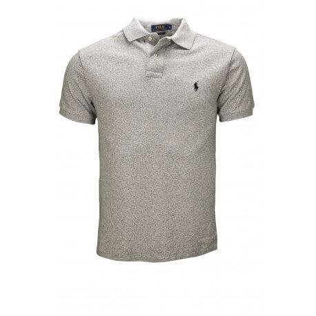 Polo Ralph Lauren basique 2 boutons gris pour homme
