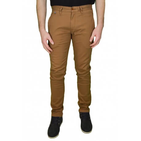 Pantalon chino Tommy Hilfiger Dénim Ferry marron pour homme