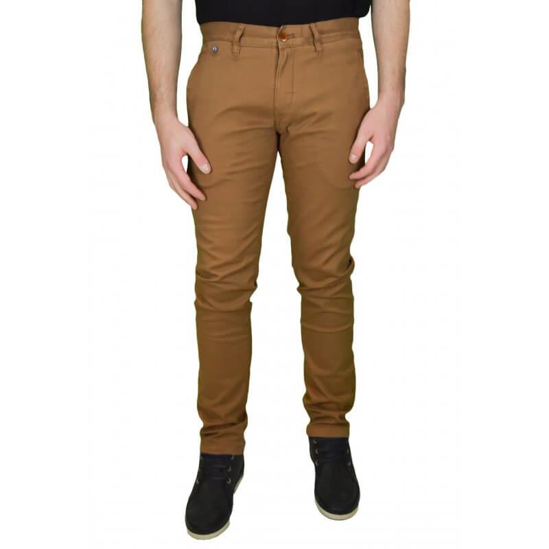 pantalon chino tommy hilfiger d nim ferry marron pour homme touj. Black Bedroom Furniture Sets. Home Design Ideas