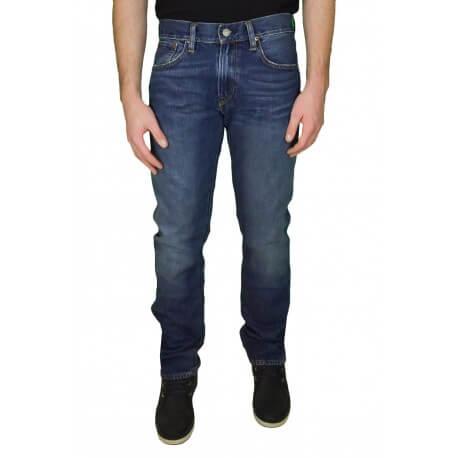 Jean slim longueur 32 Ralph Lauren Varick bleu pour homme