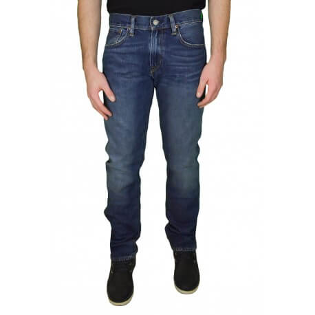 Jean slim longueur 34 Ralph Lauren Varick bleu pour homme