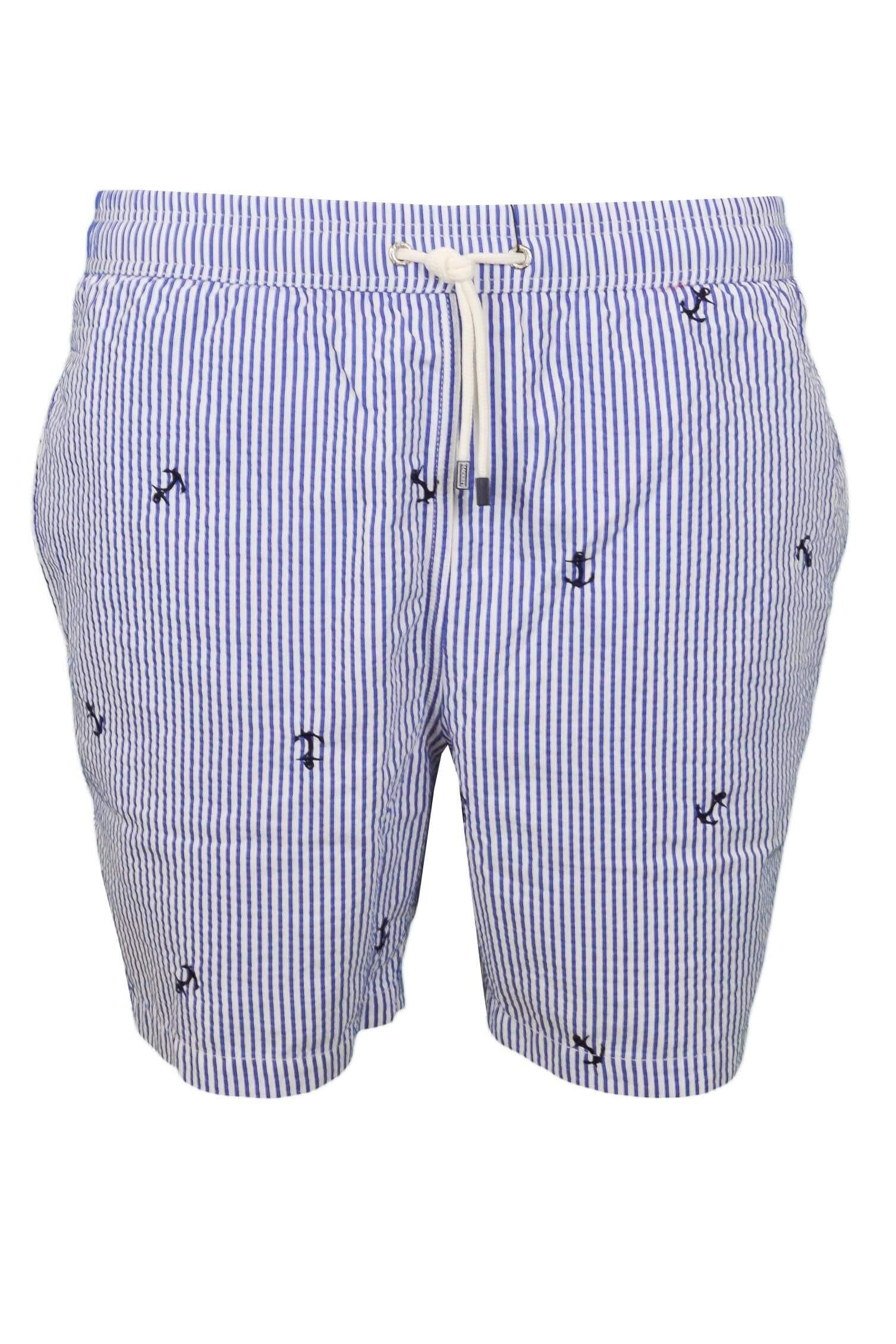 616874c3bf6 Short de bain rayé Hackett bleu et blanc pour homme - Toujours au m...
