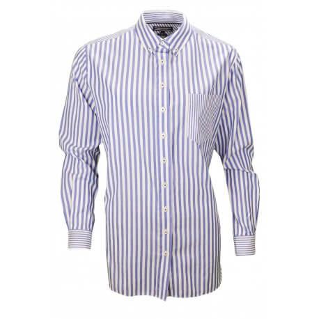 chemise femme rayure bleu ori chemise homme a rayures bleu marine interieur blanc poignets napolitai. Black Bedroom Furniture Sets. Home Design Ideas