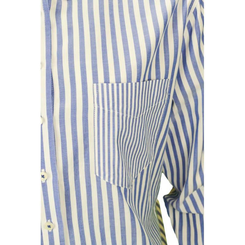 chemise tommy hilfiger marar ray e bleu blanc pour femme toujours. Black Bedroom Furniture Sets. Home Design Ideas